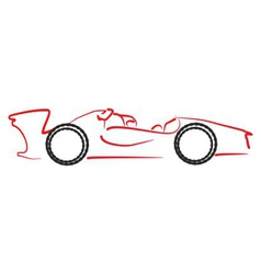 Formula 1 car logo vector