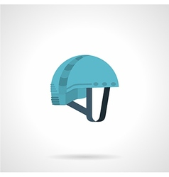 Flat color icon for climbing helmet vector