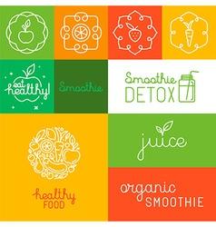 Organic juice - packaging design elements vector