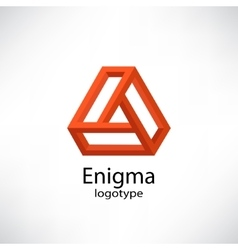 Enigma abstract impossible shapes vector