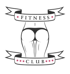 Fitness woman banner vector