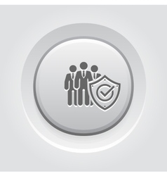Business protection icon vector
