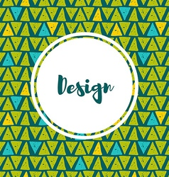 Hipster backgrounds in blues and greens hand drawn vector
