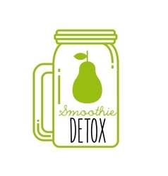 Pear detox icon smoothie and juice design vector