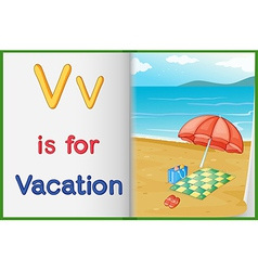 A picture of vacation in a book vector image