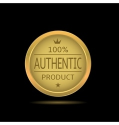 Authentic product label vector image vector image