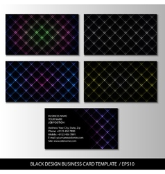 black design business card template abstract vector image