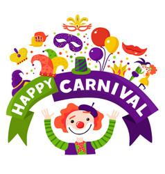 Carnival celebration festive composition poster vector