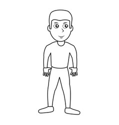 Character boy son outline vector