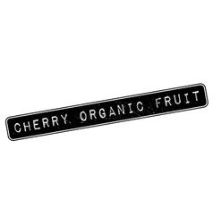 Cherry organic fruit rubber stamp vector