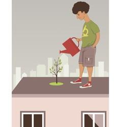 City garden vector