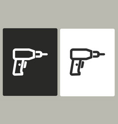 drill - icon vector image vector image