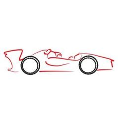 formula 1 car logo vector image