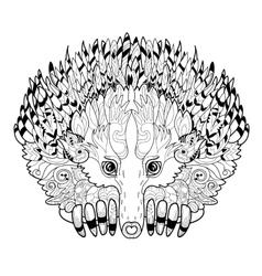 Hand drawn animal echidna vector