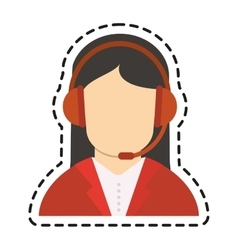 Isolated operator woman design vector