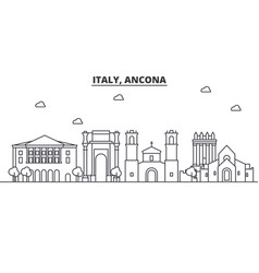 italy ancona architecture line skyline vector image vector image