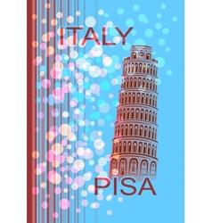 Italy Pisa vector image vector image