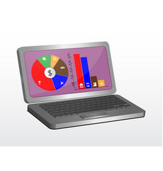 Laptop graphic design can be used as an element vector