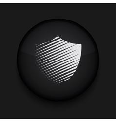 modern shield black circle icon vector image vector image