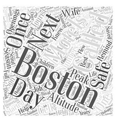 Motels in boston word cloud concept vector
