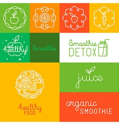 Organic juice - packaging design elements vector
