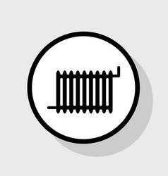 radiator sign flat black icon in white vector image vector image