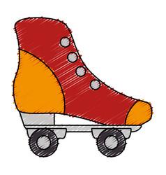 Retro skate isolated icon vector