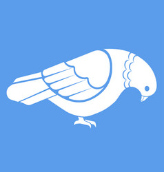 simple white pigeon dove vector image vector image