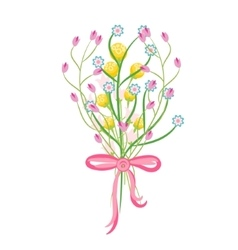 Spring wild flower bouquet vector