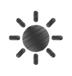 sun day isolated icon vector image vector image