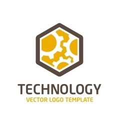 Technical template logo vector image vector image