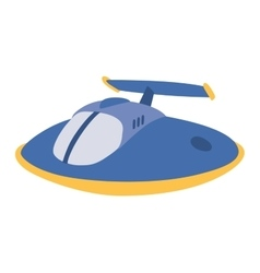 Ufo spaceship isolated vector