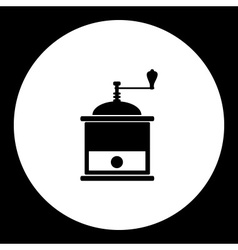 Black isolated old retro coffee grinder eps10 vector