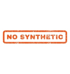 No synthetic rubber stamp vector
