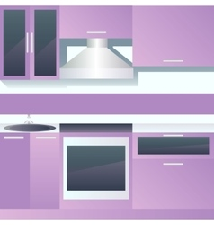 Interior of kitchen vector image