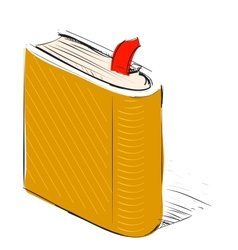 Book note book with bookmark vector