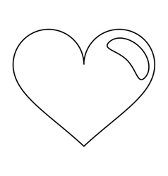 Heart love romantic symbol outline vector