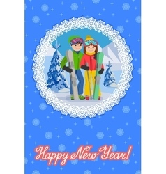 Congratulation card new vector