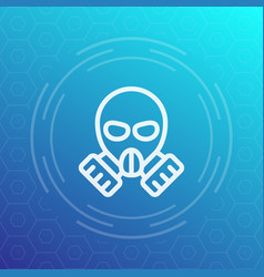 Gas mask linear icon vector