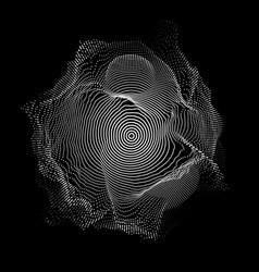 Abstract white mesh on dark vector