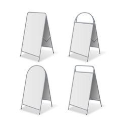 metal empty blank advertising street handheld vector image