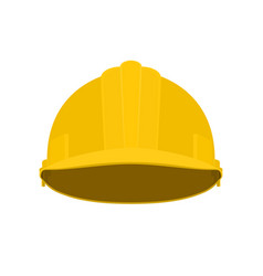 yellow working safety helmet vector image
