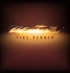 Fire business promotion vector
