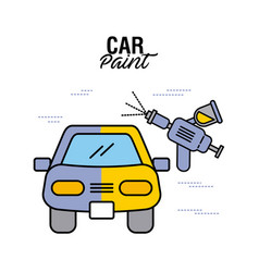 car paint service airbrush color vector image
