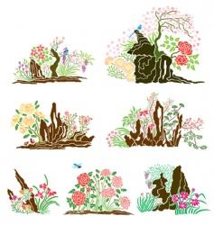 oriental nature vector image