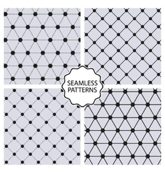 Stock set seamless line patterns vector