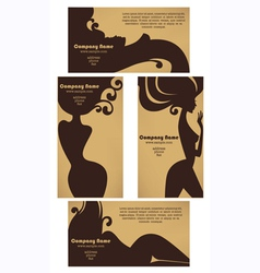 hot suncards for beauty salons vector image