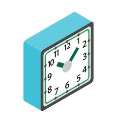 Table clock icon isometric 3d style vector