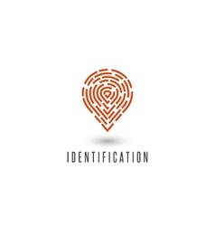 Identification personal fingerprint creative idea vector