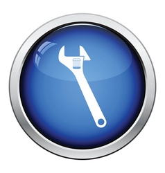 Icon of adjustable wrench vector